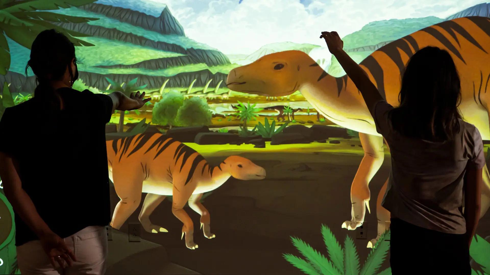 Pictured is Ideum's Digital Dinos display.