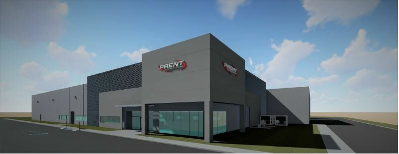 Pictured is a render of Prent's future New Mexico Facility. Photo is courtesy of Prent.